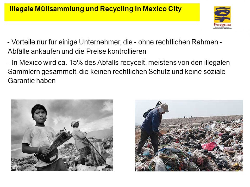 Illegale Müllsammlung und Recycling in Mexico City