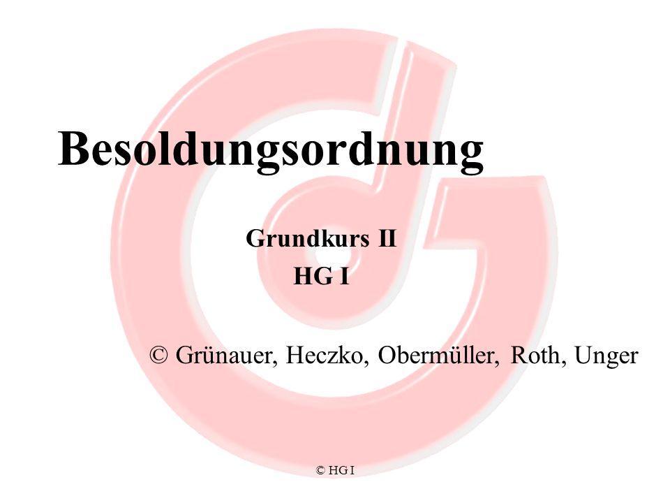 Besoldungsordnung Grundkurs II HG I
