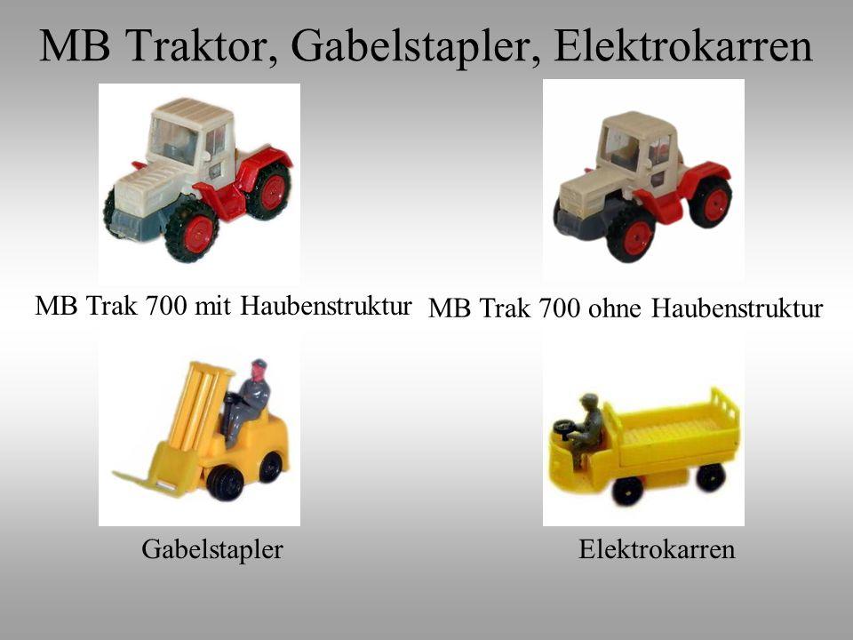 MB Traktor, Gabelstapler, Elektrokarren