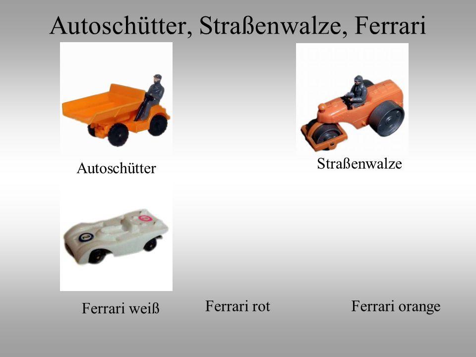 Autoschütter, Straßenwalze, Ferrari
