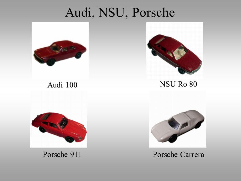 Audi, NSU, Porsche Audi 100 NSU Ro 80 Porsche 911 Porsche Carrera