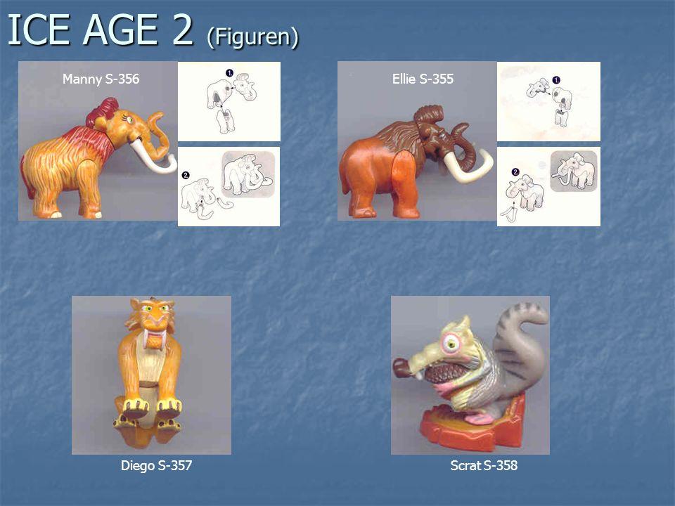 ICE AGE 2 (Figuren) Manny S-356 Ellie S-355 Diego S-357 Scrat S-358