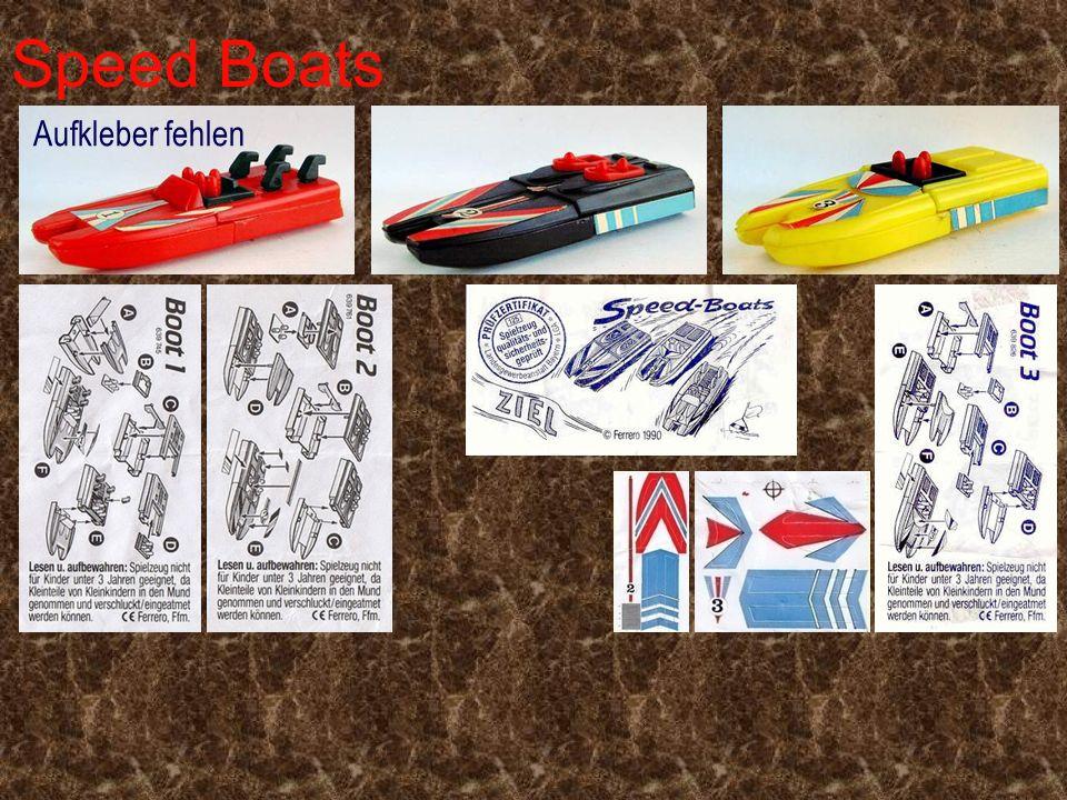 Speed Boats Aufkleber fehlen