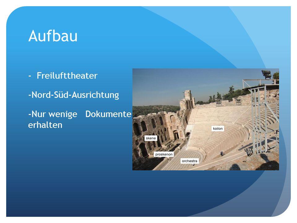 Aufbau - Freilufttheater Nord-Süd-Ausrichtung