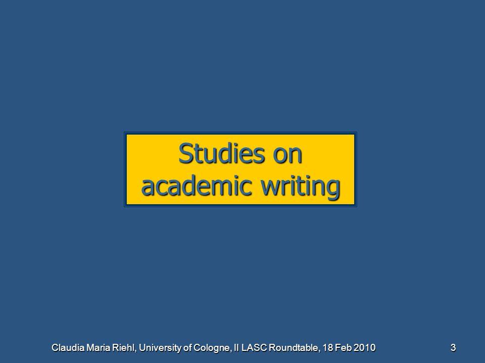 Studies on academic writing