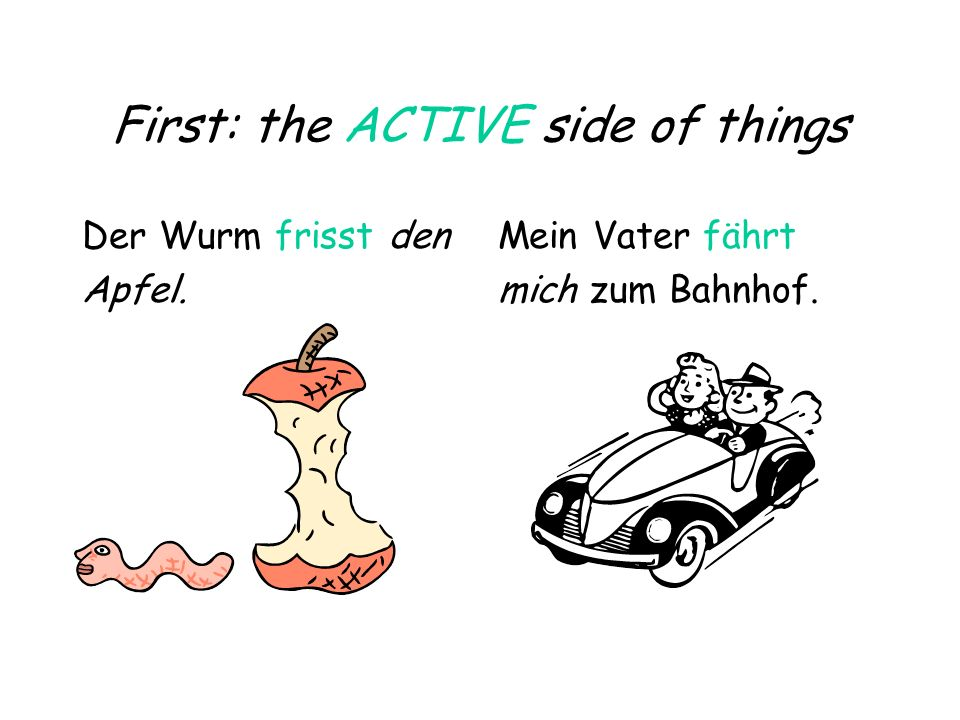 First: the ACTIVE side of things