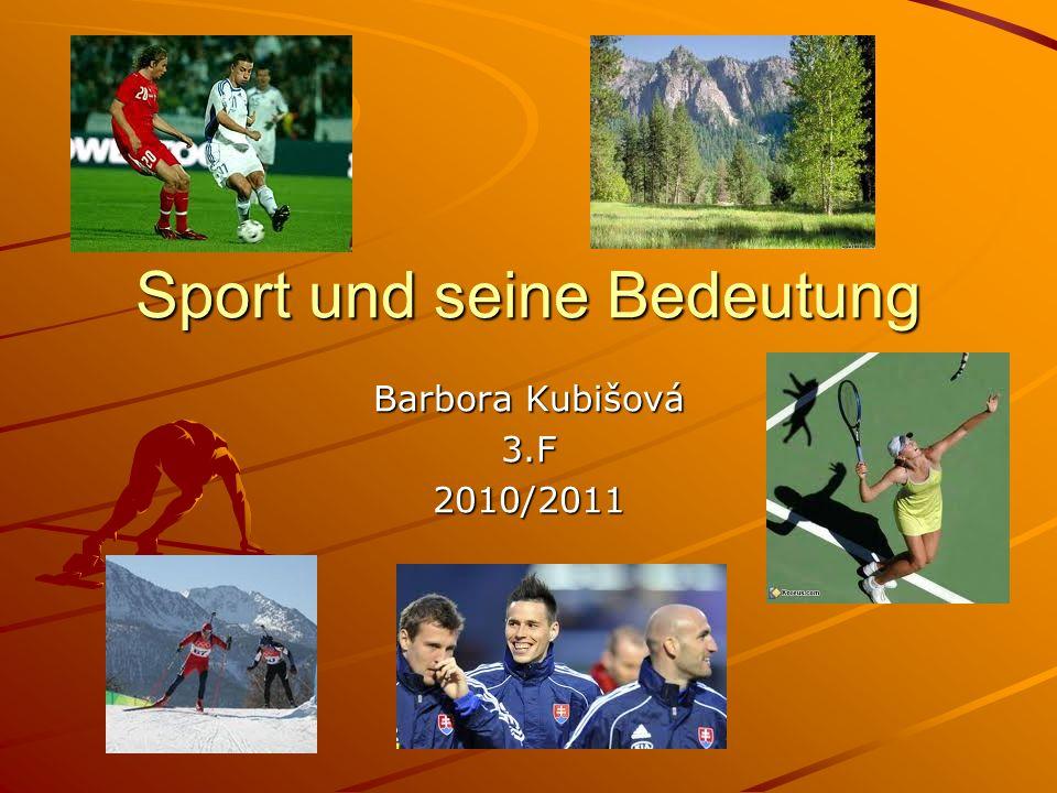 Sport und seine Bedeutung