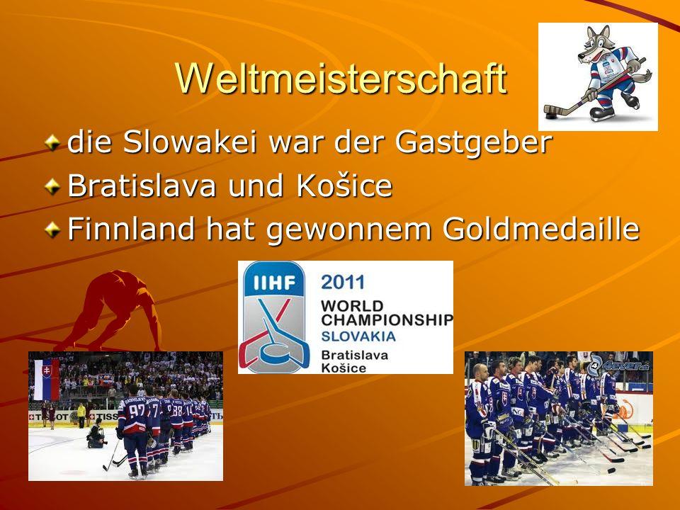 Weltmeisterschaft die Slowakei war der Gastgeber Bratislava und Košice