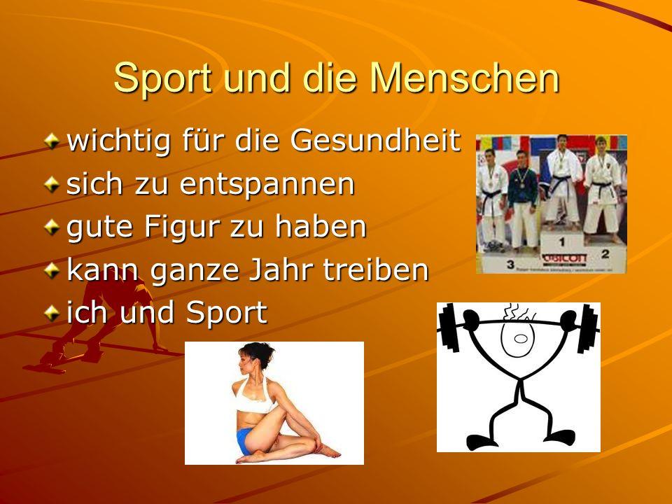 Sport und die Menschen wichtig für die Gesundheit sich zu entspannen