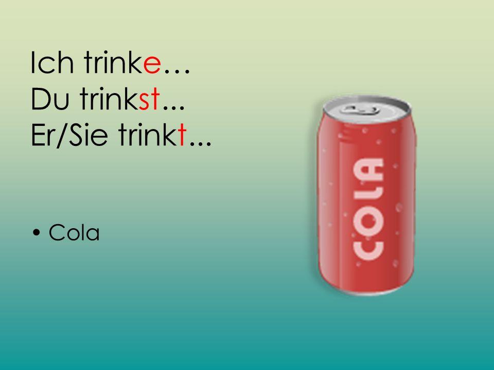 Ich trinke… Du trinkst... Er/Sie trinkt...