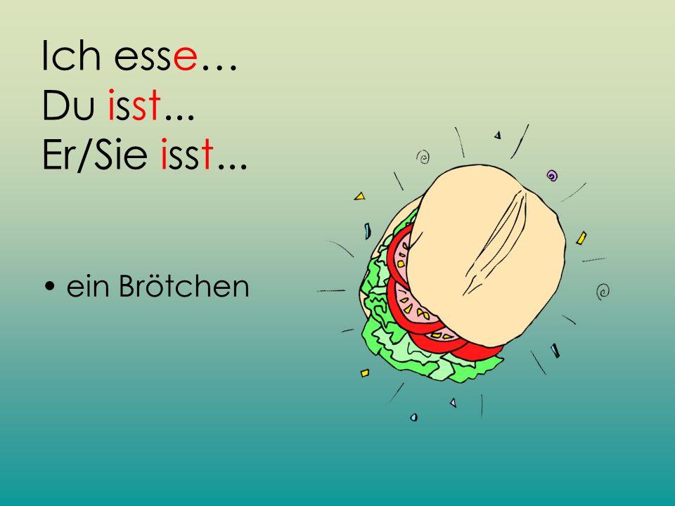 Ich esse… Du isst... Er/Sie isst...