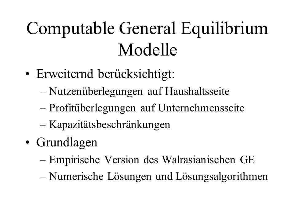 Computable General Equilibrium Modelle