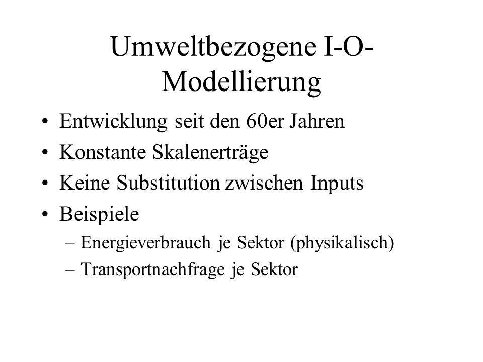 Umweltbezogene I-O-Modellierung