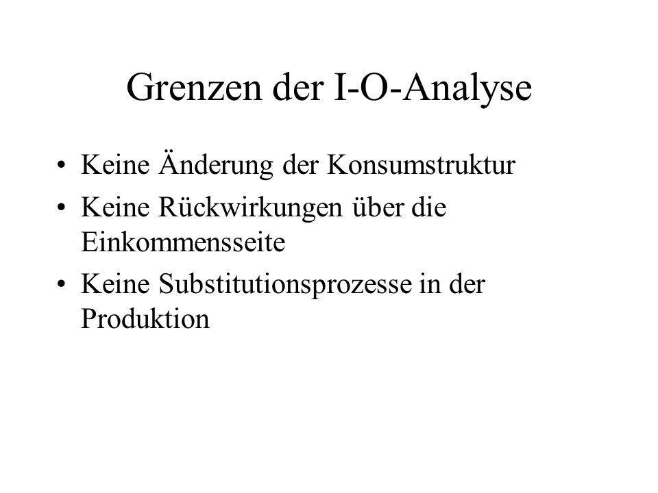 Grenzen der I-O-Analyse