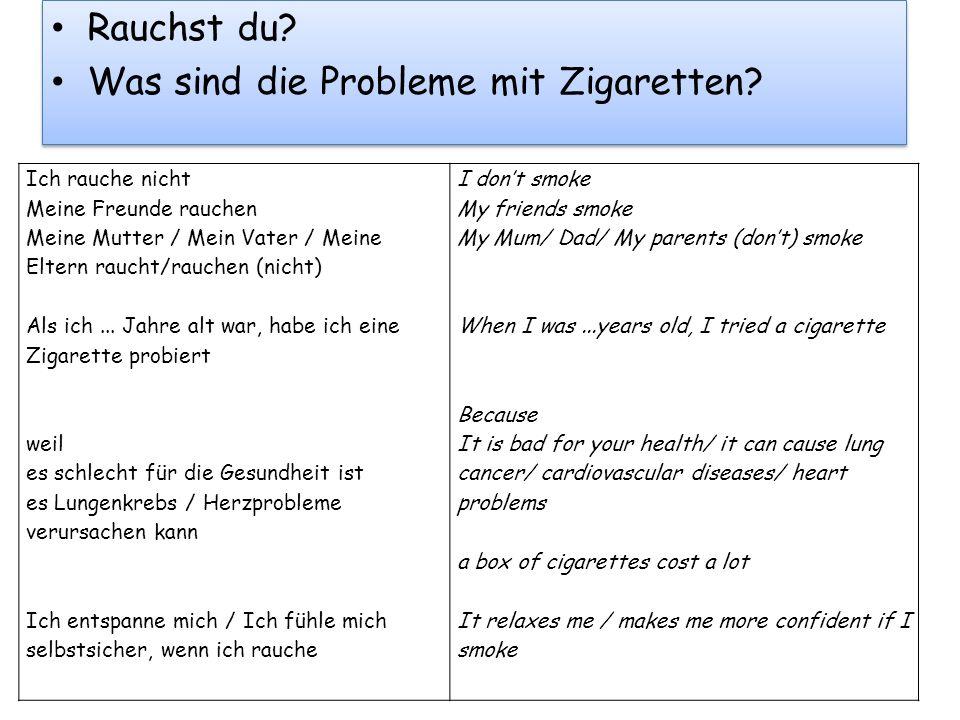 Was sind die Probleme mit Zigaretten