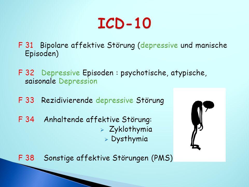 ICD-10 F 31 Bipolare affektive Störung (depressive und manische Episoden)