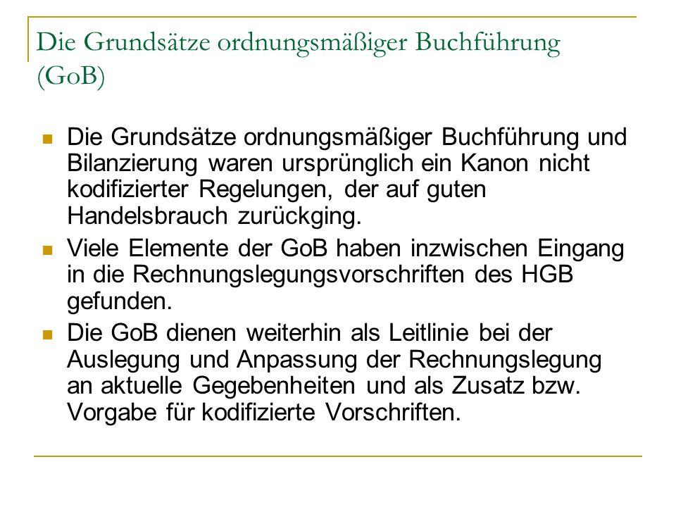 Die Grundsätze ordnungsmäßiger Buchführung (GoB)