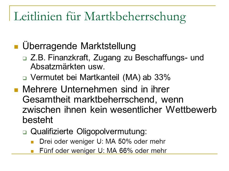Leitlinien für Martkbeherrschung