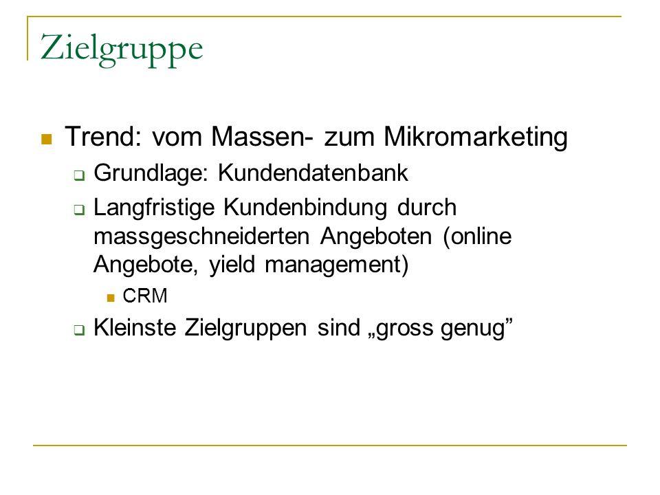 Zielgruppe Trend: vom Massen- zum Mikromarketing