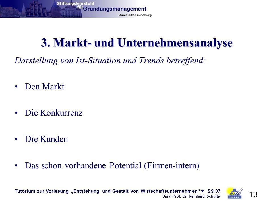 3. Markt- und Unternehmensanalyse