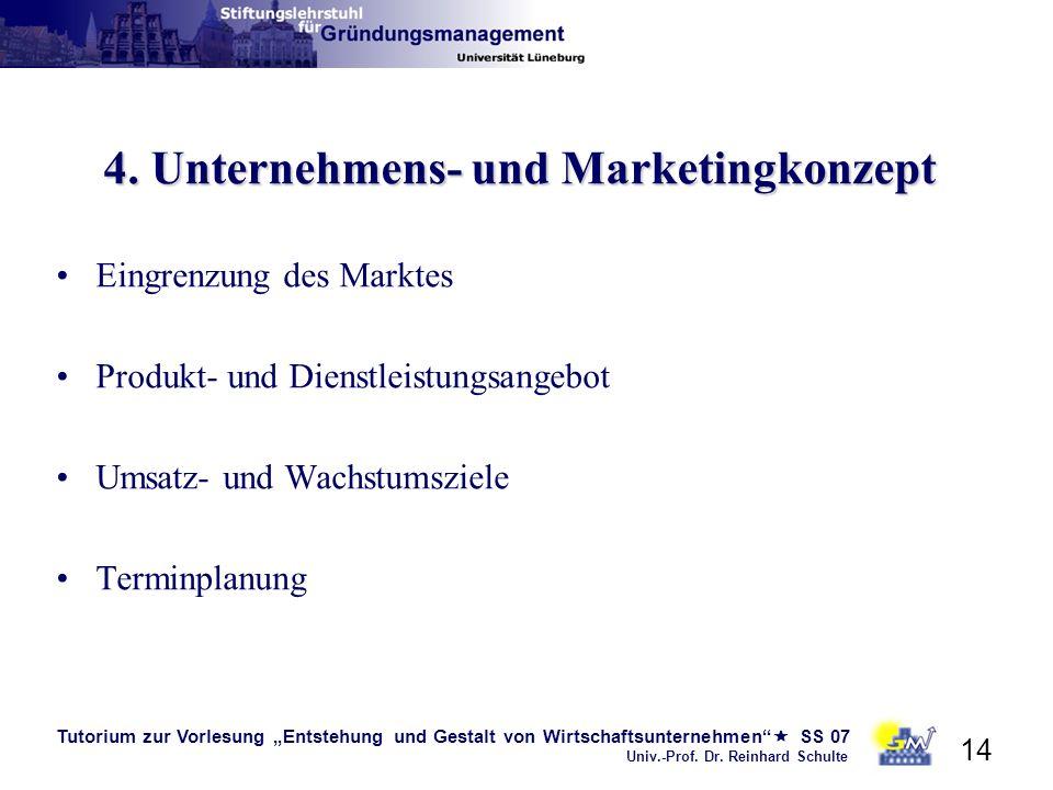 4. Unternehmens- und Marketingkonzept