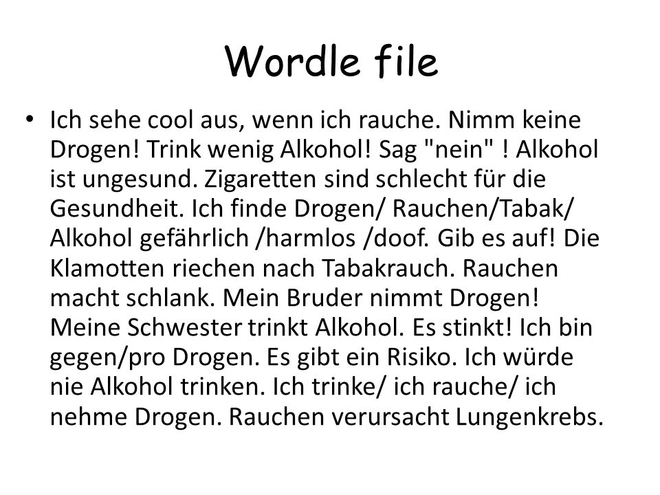 Wordle file