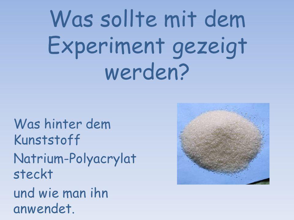 Was sollte mit dem Experiment gezeigt werden