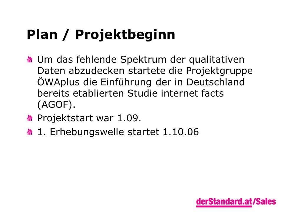 Plan / Projektbeginn