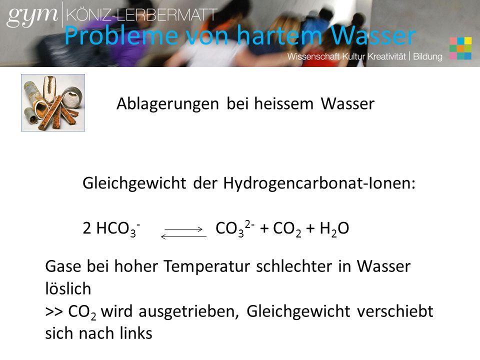 Probleme von hartem Wasser