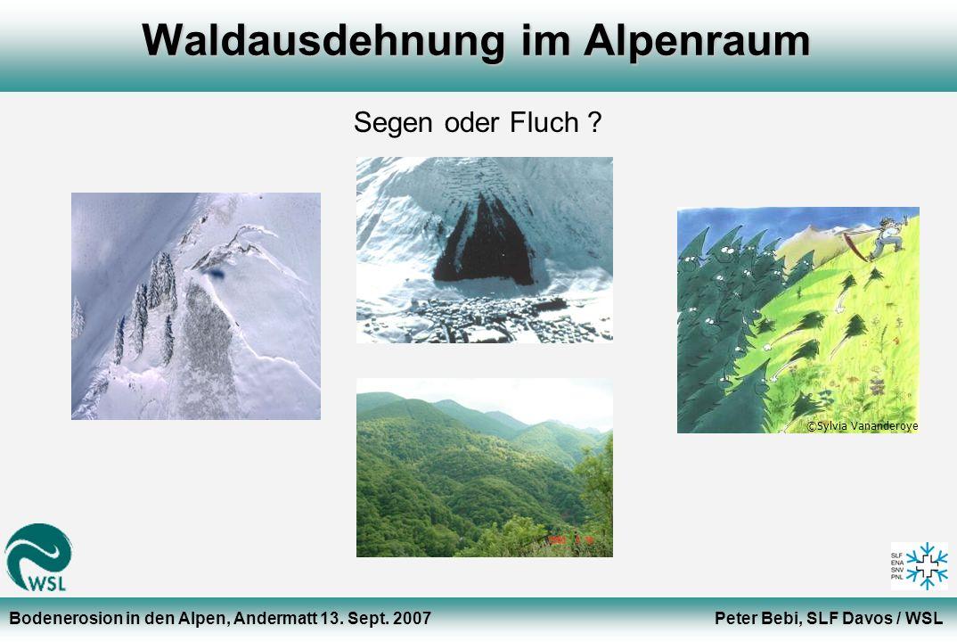 Waldausdehnung im Alpenraum