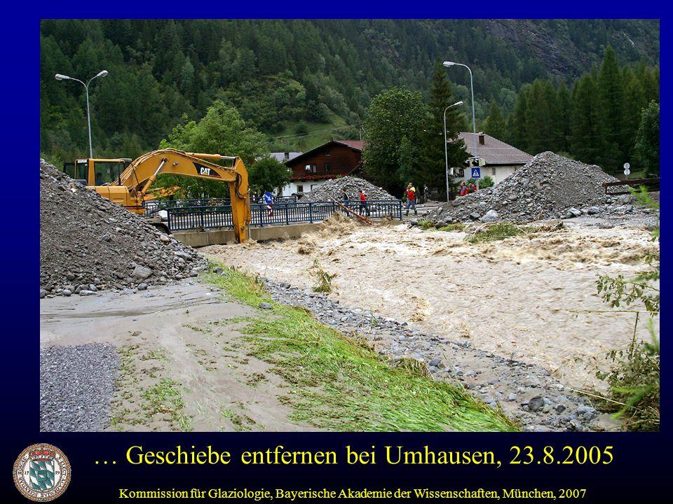 … Geschiebe entfernen bei Umhausen, 23.8.2005