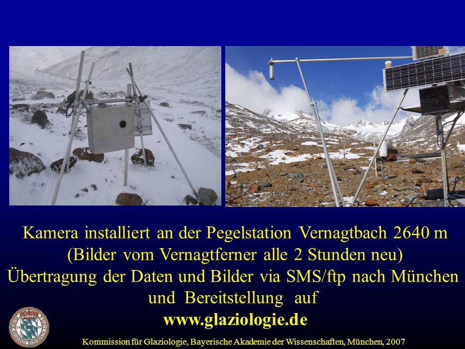 Kamera installiert an der Pegelstation Vernagtbach 2640 m