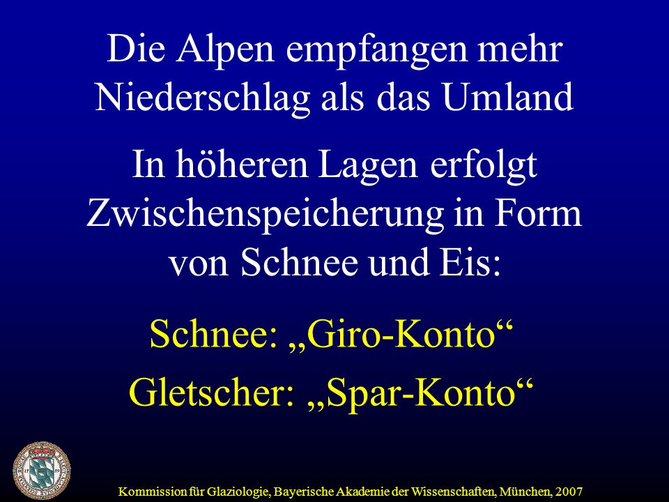 """Gletscher: """"Spar-Konto"""