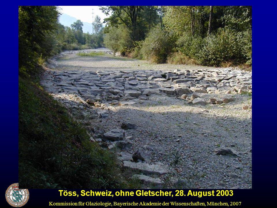 Töss, Schweiz, ohne Gletscher, 28. August 2003