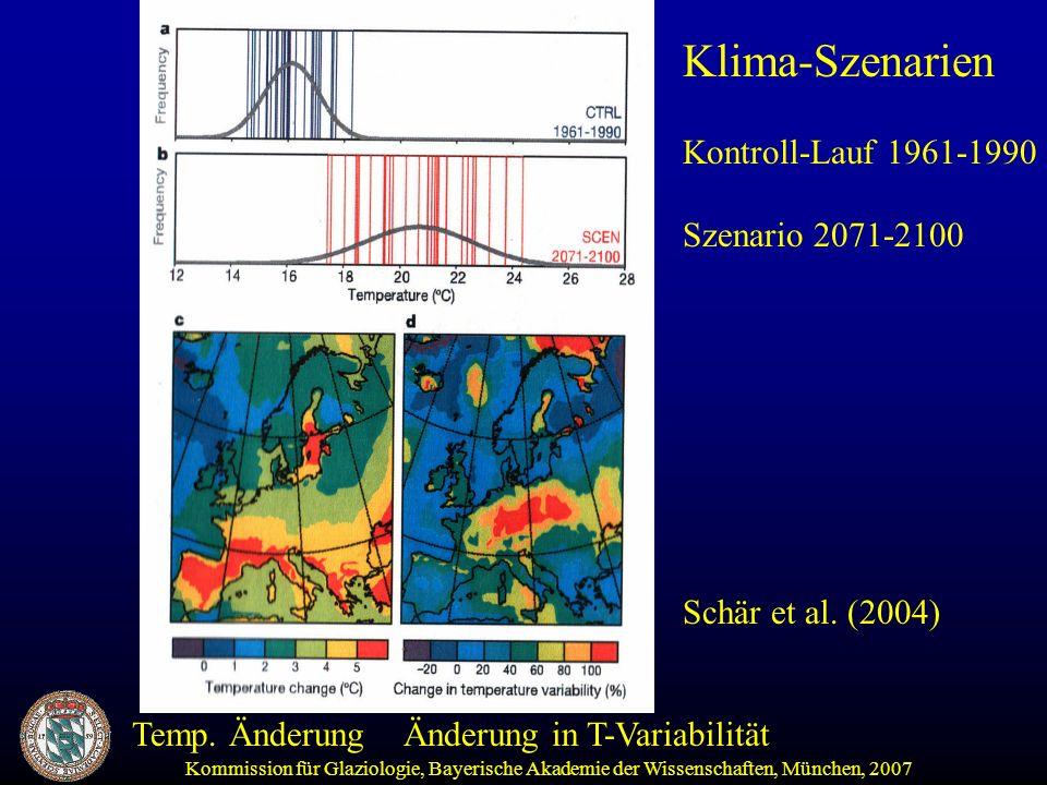 Klima-Szenarien Kontroll-Lauf 1961-1990 Szenario 2071-2100