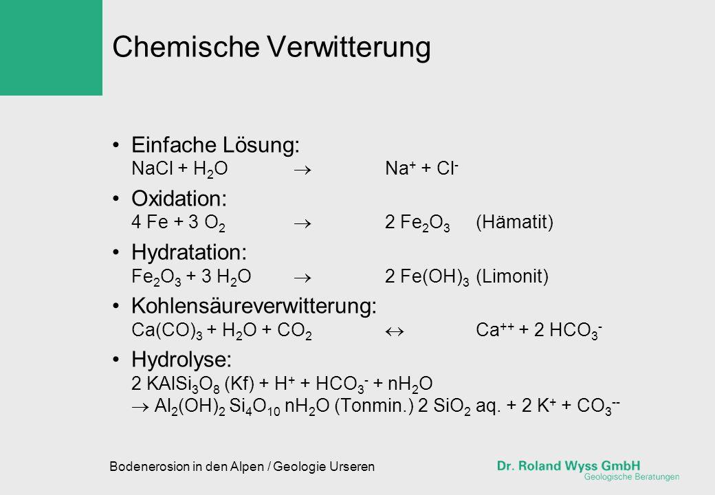 Chemische Verwitterung