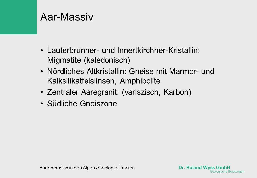 Aar-Massiv Lauterbrunner- und Innertkirchner-Kristallin: Migmatite (kaledonisch)