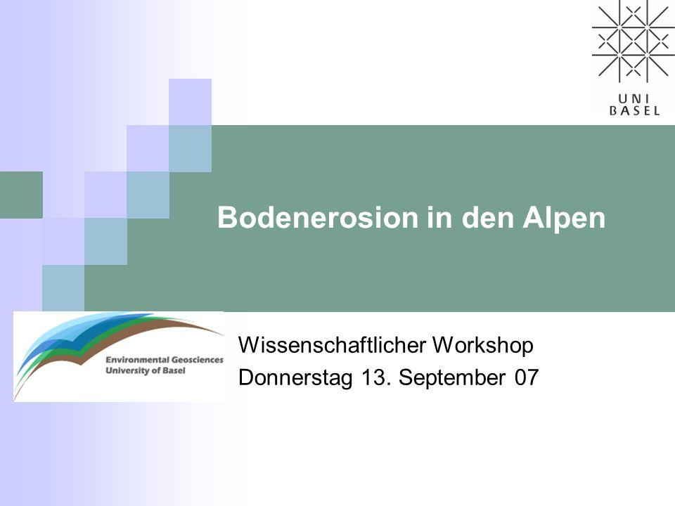 Bodenerosion in den Alpen
