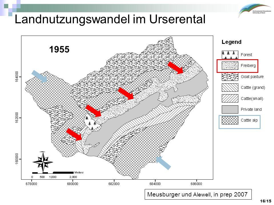 Landnutzungswandel im Urserental
