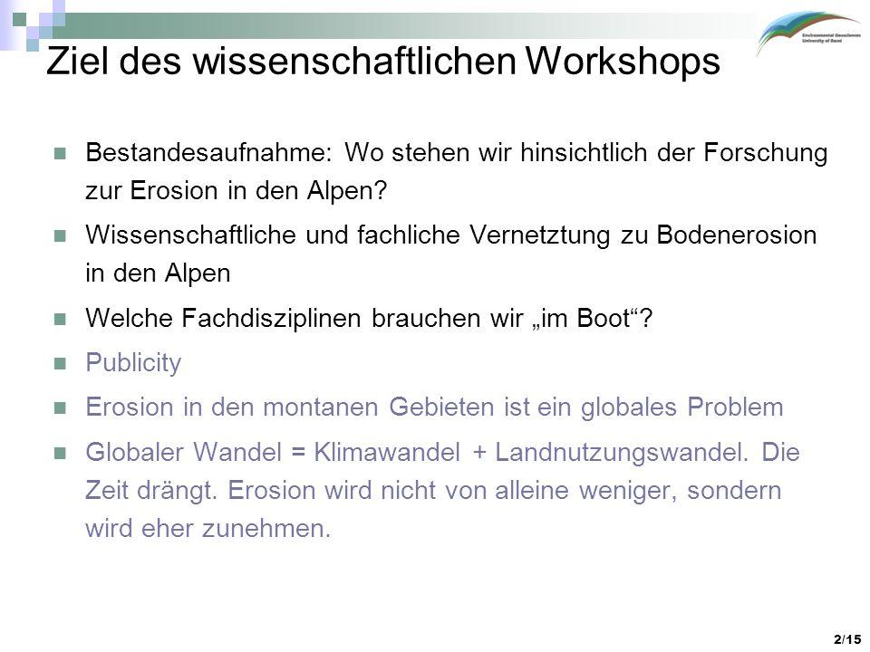 Ziel des wissenschaftlichen Workshops