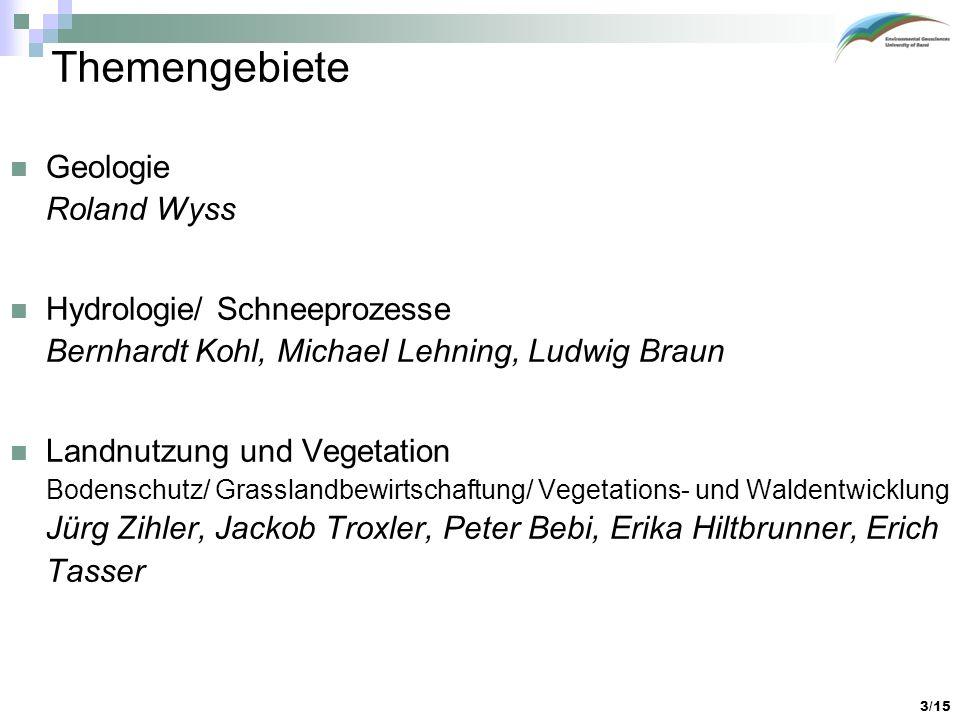 Themengebiete Geologie Roland Wyss