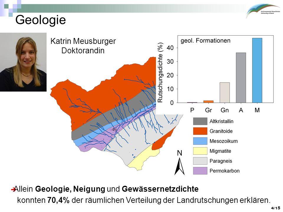 Geologie Katrin Meusburger Doktorandin