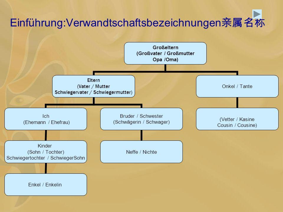 Einführung:Verwandtschaftsbezeichnungen亲属名称