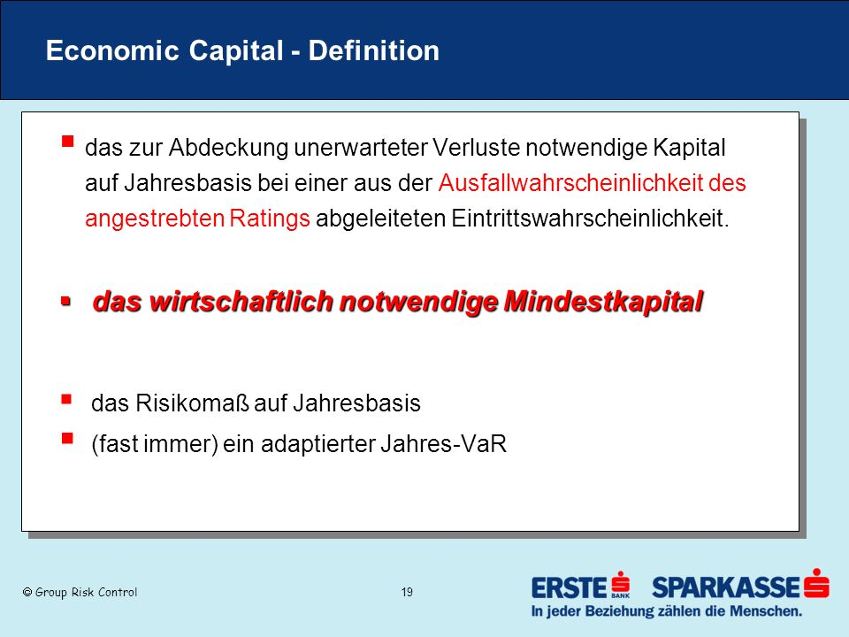 Economic Capital - Definition