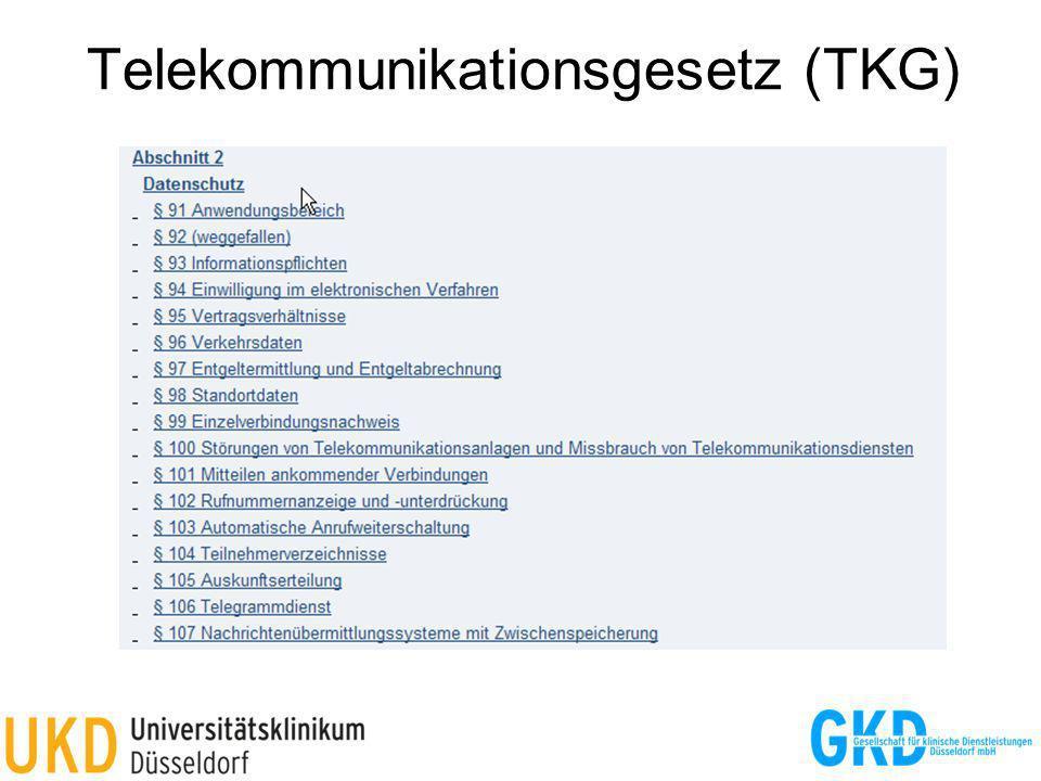Telekommunikationsgesetz (TKG)