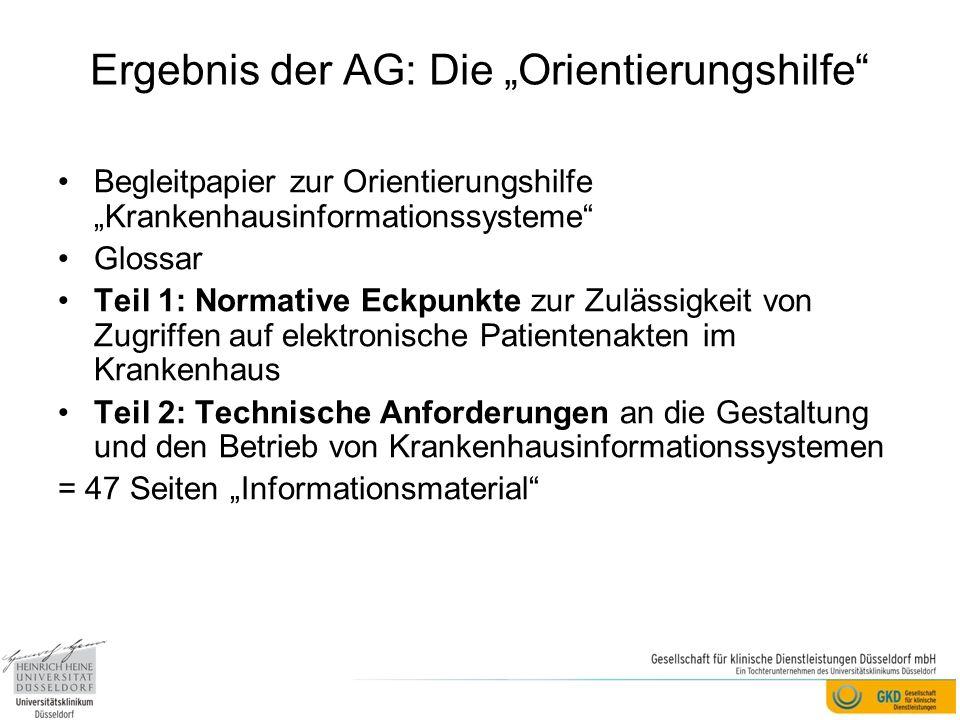 """Ergebnis der AG: Die """"Orientierungshilfe"""