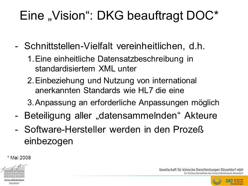 """Eine """"Vision : DKG beauftragt DOC*"""