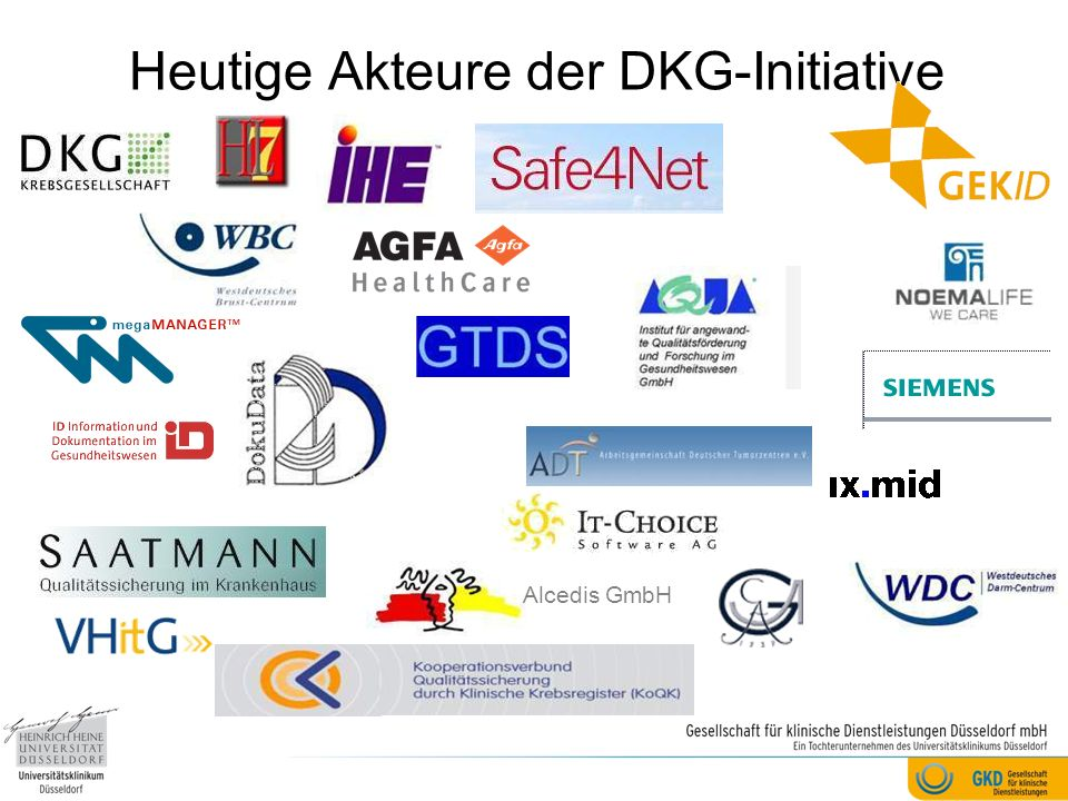 Heutige Akteure der DKG-Initiative