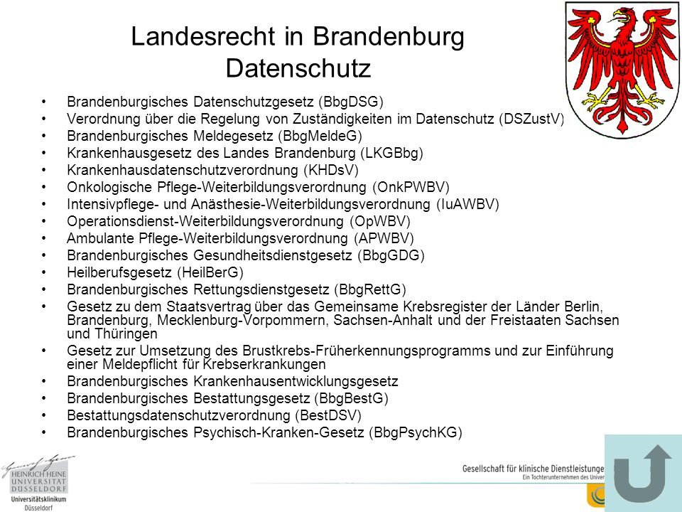 Landesrecht in Brandenburg Datenschutz