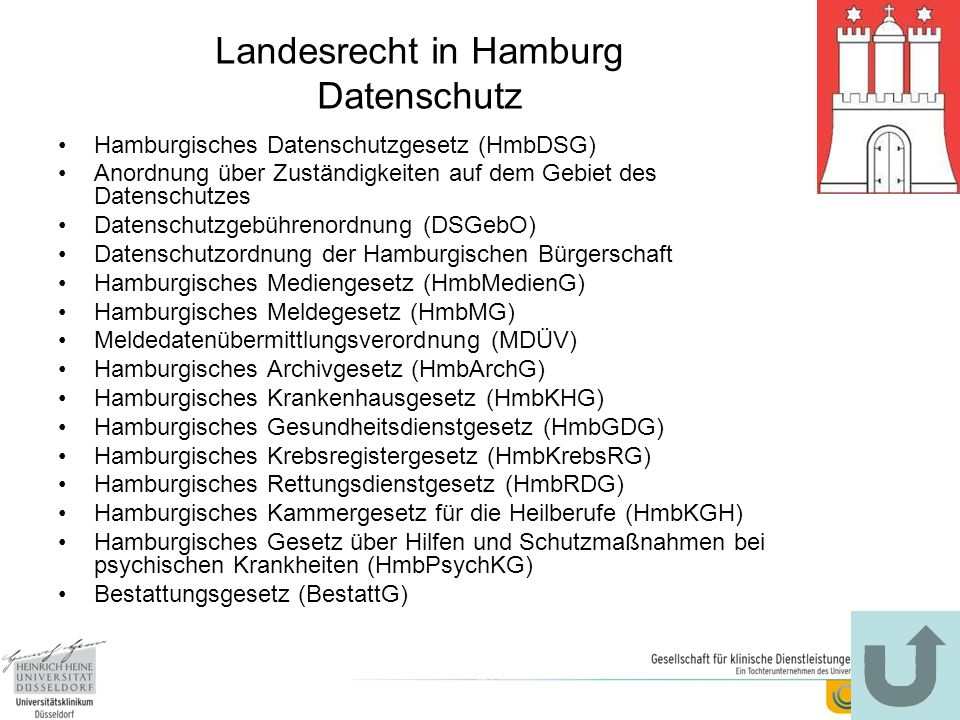 Landesrecht in Hamburg Datenschutz
